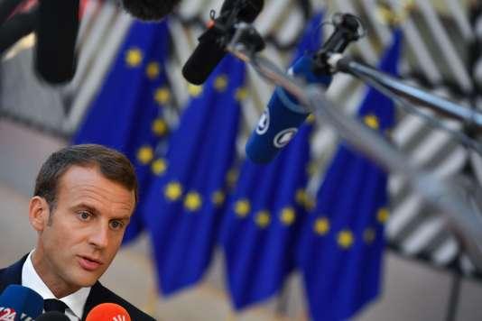 Emmanuel Macron lors du sommet européen du vendredi 29 juin.