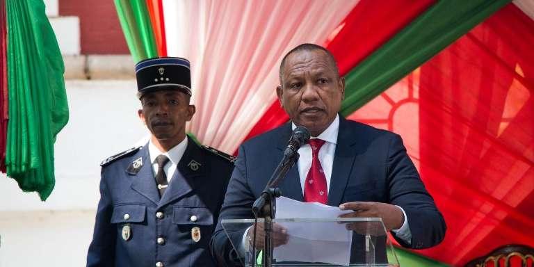 Le premier ministre malgache, Christian Ntsay, lors de sa prise de fonction, à Antananarivo, le 6juin 2018.