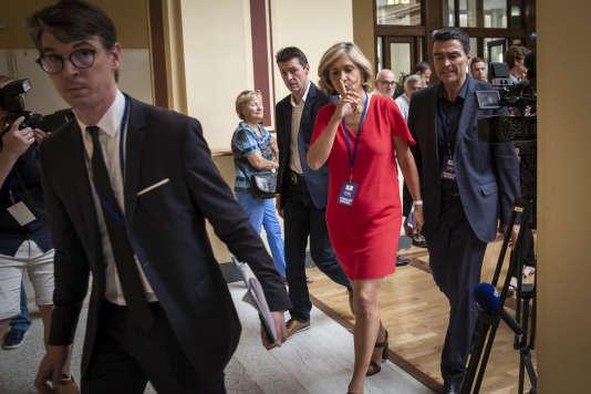Valérie Pécresse participe au conseil national des Républicains au palais de l'Europe de Menton, le 30 juin.