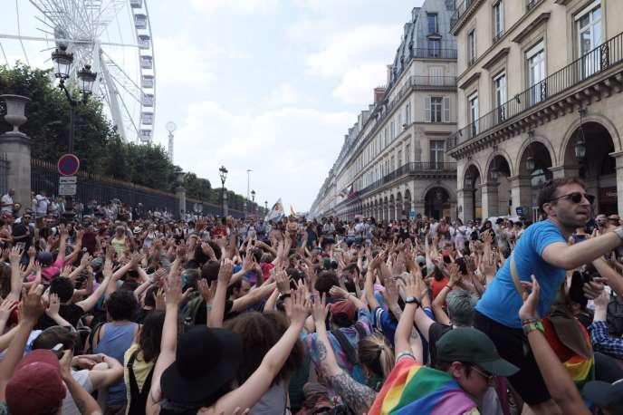 Rue de Rivoli, à Paris, le 30 juin.