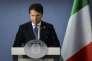 Le premier ministre italien, Giuseppe Conte, à l'issue du sommet européen, à Bruxelles, le 29 juin.