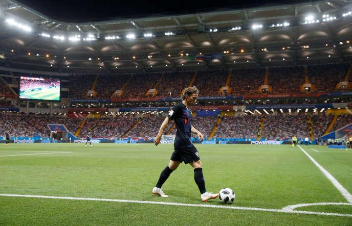 Luka Modric pendant le match Croatie-Islande (2-1), le 26 juin.