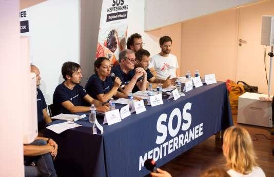 SOS Méditerranée donnait samedi 30 juin une conférence de presse, au théâtre de La Criée, à Marseille.