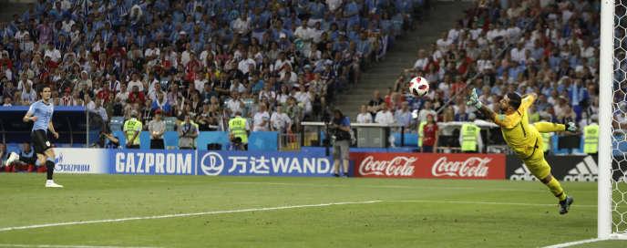Edinson Cavani a inscrit un doublé face au Portugal.