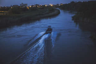 Un bateau des douanes américaines, sur le Rio Grande, qui sépare le Mexique et les Etats-Unis.