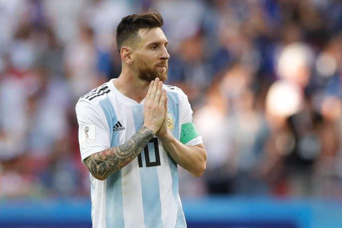 Lionel Messi après l'élimination de la France contre l'Argentine, le 30 juin 2018 à Kazan