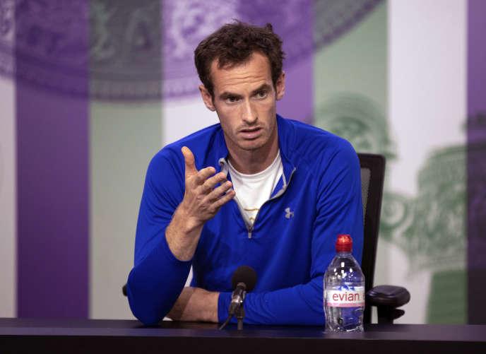 Andy Murray lors d'une conférence de presse à Wimbledon, à Londres, le 30 juin.