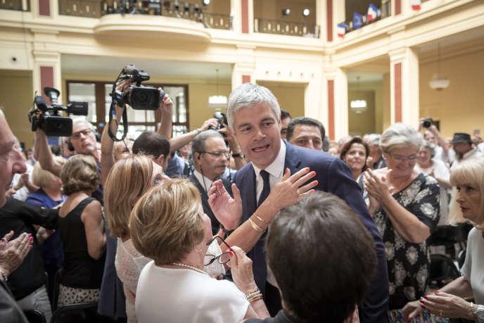 Laurent Wauquiez lors du conseil national des Républicains, le 30 juin à Menton.