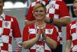 Kolinda Grabar-Kitarovic, présidente de la République de Croatie, pendant le match Danemark-Croatie, le 1erjuillet.