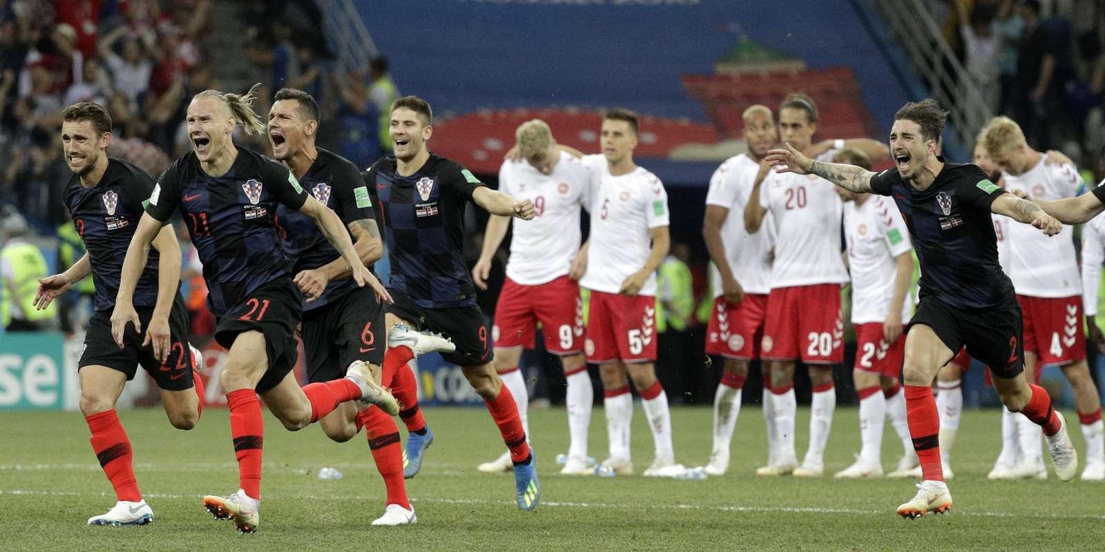 La joie des Croates après leur victoire lors des tirs au buts.
