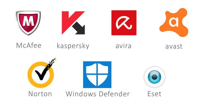 Sept des antivirus gratuits ou payants les plus populaires.