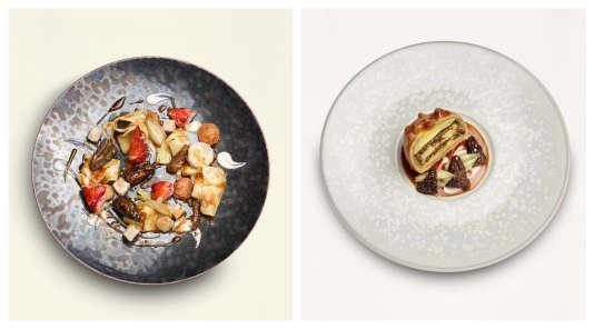 Un ragoût de homard, pâtes et ris de veau aux morilles et une tourte de pommes de terre aux morilles…