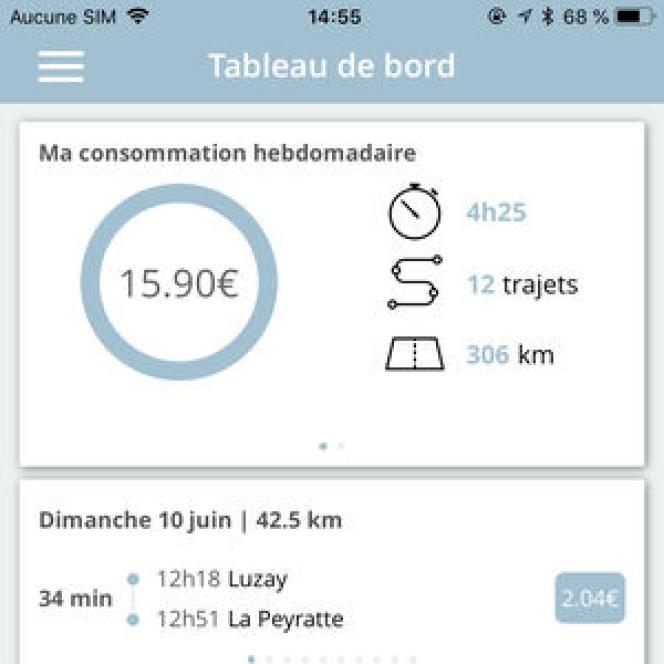 L'application pour mobile qui permet suivre en temps réel le coût de son assurance.