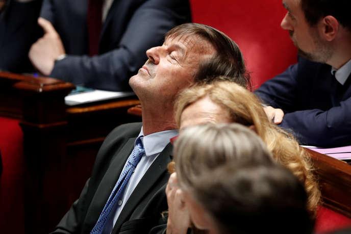 Le ministre de la transition écologique et solidaire, Nicolas Hulot, à l'Assemblée nationale à Paris, le 13 juin.