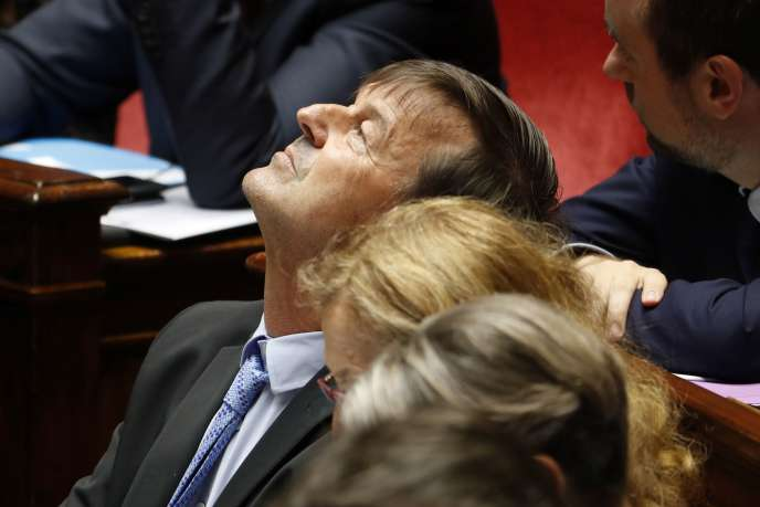 Nicolas Hulot, ministre de la transition écologique et solidaire, à l'Assemblée nationale, le 13 juin.