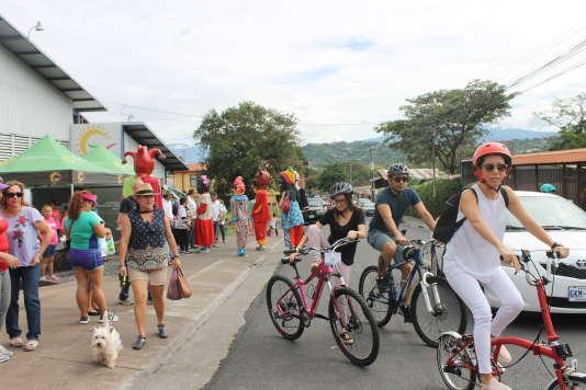 Beaucoup de participantes n'avaient jamais fait de vélo, ou avaient oublié cette pratique.