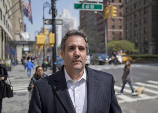 L'avocat Michael Cohen, dans une rue de New York, le 11 avril 2018