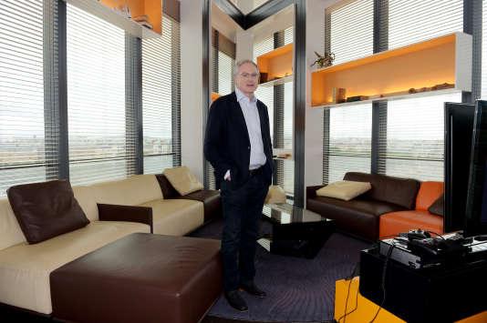 Eric Horvitz, dans les locaux de Microsoft, à Issy-les-Moulineaux (Hauts-de-Seine), le 21juin.