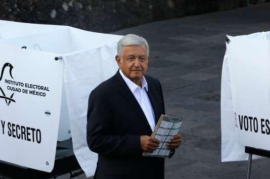 Andrés Manuel Lopez Obrador à Mexico, le 1er juillet.