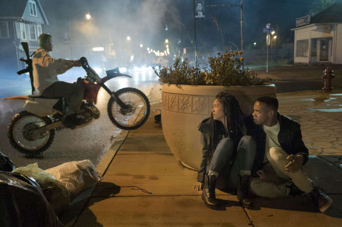 Lex Scott Davis etJoivan Wade dans« American Nightmare 4 : les origines» (« The First Purge»), deGerald McMurray.