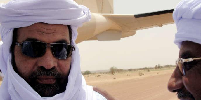Iyad Ag-Ghali, dirigeant du Groupe de soutien à l'islam et aux musulmans, à Kidal le 7août 2012.