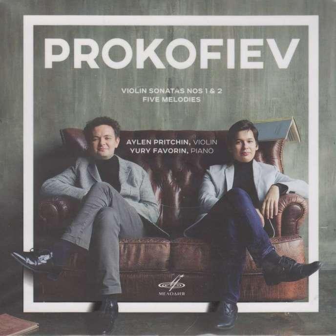 Pochette de l'album consacré à Serge Prokofiev parAylen Pritchin (violon) et Yury Favorin (piano).