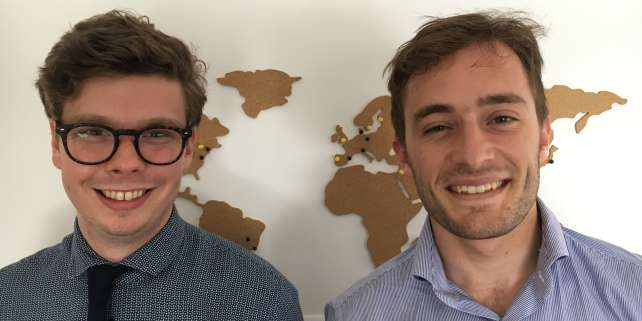 Florian Sotteau et Nicolas Rousseaux à Paris, en juin 2018, au retour de leur« Global Learning Tour».