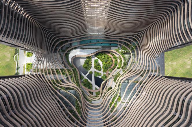 «Green Heart» (cœur végétalisé),au centre du quartier d'affairesde Singapour. Entouré par quatregratte-ciel, cet espace public prendla forme d'un jardin s'élevantsur plusieurs étages.