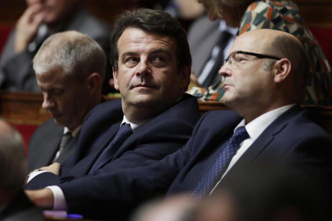 Thierry Solère à l'Assemblée nationale, le 25 octobre 2017.