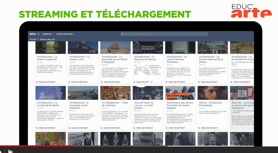 Educ'ARTE à Paris:«A Paris, nous avons rencontré Caroline Ghienne, qui a piloté le projet Educ'ARTE, un service de VOD à destination des professeurs. Derrière cette initiative, il s'agissait de proposer une bibliothèque au contenu de qualité, élaborée en collaboration avec Les Cahiers pédagogiques. Le professeur peut personnaliser le contenu pour son cours à travers des outils digitaux intuitifs. Arte a également souhaité créer une communauté d'apprentissage collaborative, en permettant aux professeurs de partager et d'échanger autour de leurs propres pratiques.» Florian Sotteau et Nicolas Rousseaux