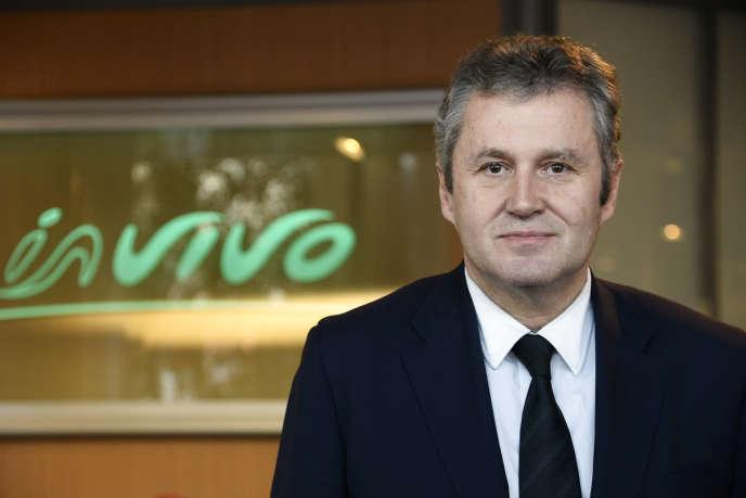 Le PDG de la coopérative agricole InVivo, Thierry Blandinières, à Paris, en décembre 2013.