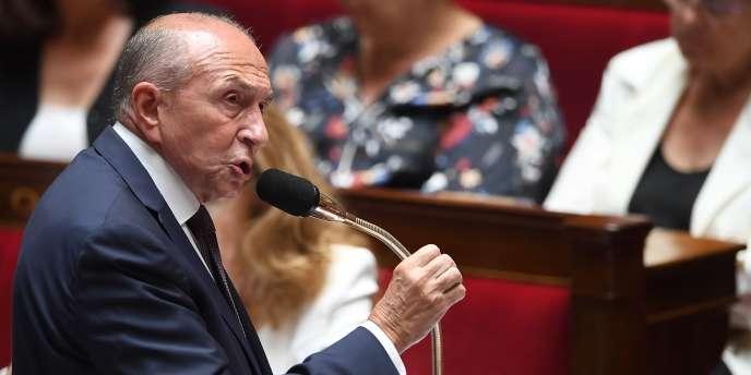 Le ministre de l'intérieur, Gérard Collomb, lors d'une séance de questions au gouvernement, le 3juillet.