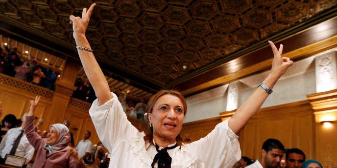 «J'offre cette victoire à toutes les femmes de mon pays, à toute la jeunesse et à la Tunisie», a lancéSouad Abderrahim, le 3 juillet après sa victoire.