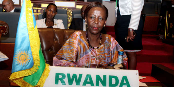 La ministre rwandaise des affaires étrangères Louise Mushikiwabo, candidate à la direction de l'OIF, le 1er juillet 2018 à Nouakchott.