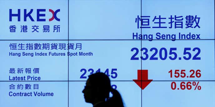A la Bourse de Hongkong, en février 2017.