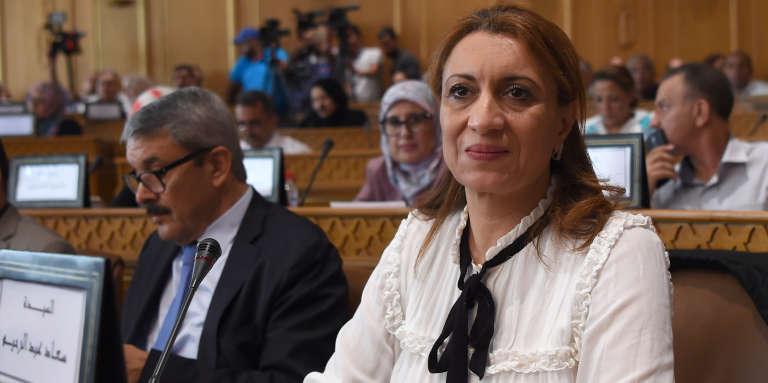 Souad Abderrahim, à Tunis le 3 juillet 2018.