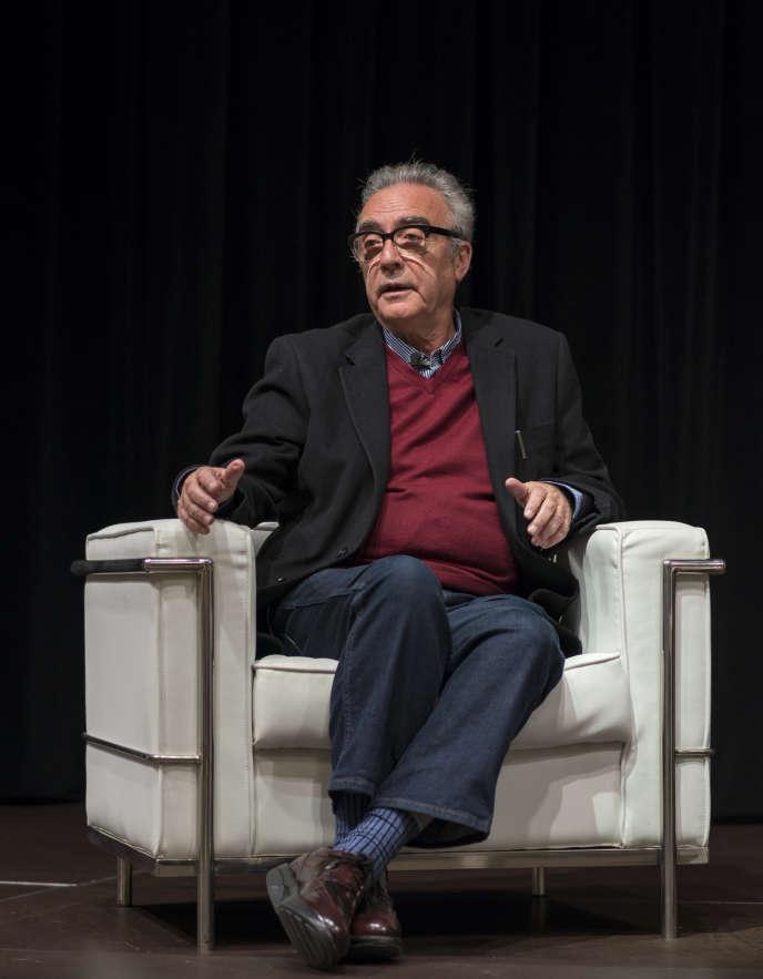 L'écrivain espagnolJuan José Millas, au festival Literaktum, Saint-Sébastien, en 2016.