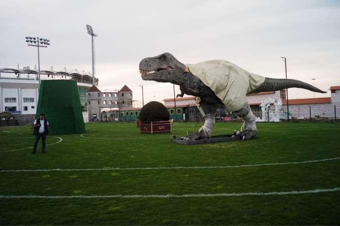 Les terrains d'entraînement de l'Anzhi ont été transformés en parc d'attractions.