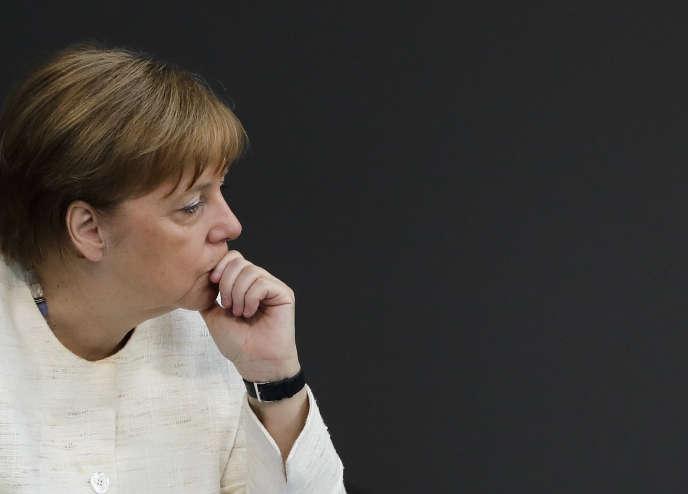 Angela Merkel, le 3 juillet à Berlin.