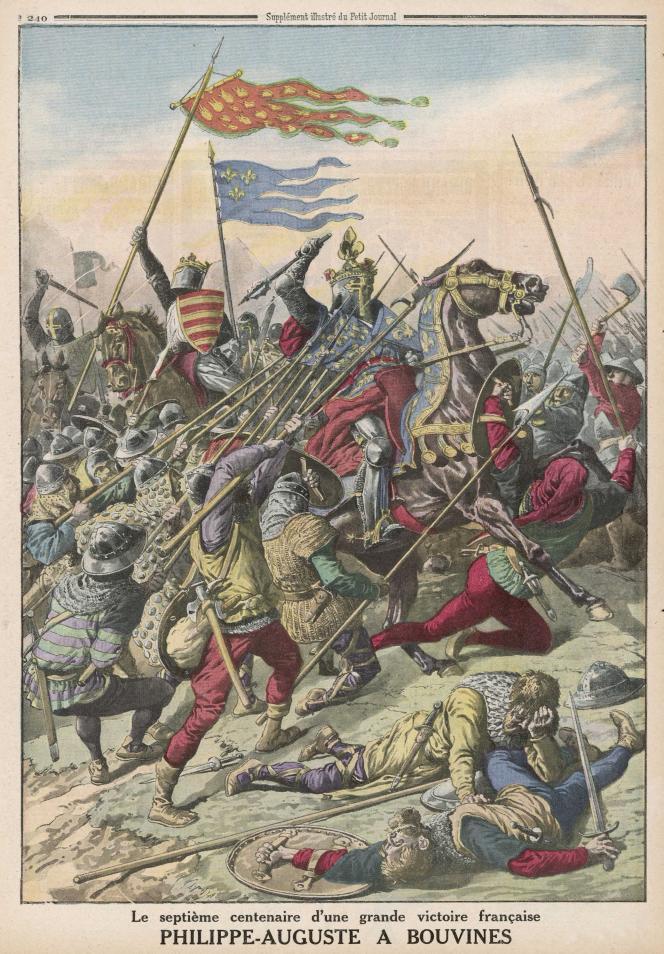« Philippe-Auguste à Bouvines», extrait du «Petit Journal» du 26 juillet 1914.