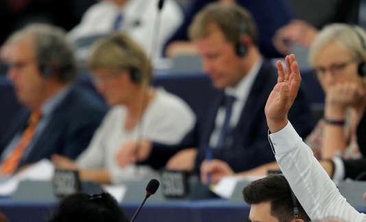 Séance au Parlement européen, le 4 juillet.