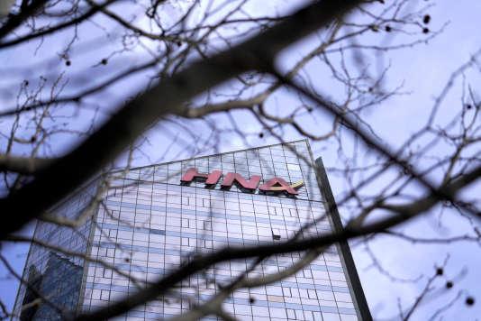 L'immeuble de bureaux du groupe HNA à Pékin, en Chine. Le siège social du conglomérat est situé à Haikou, dans le sud du pays.