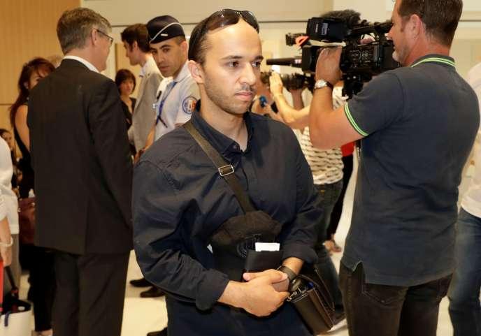 Farouk Ben Abbes à son arrivée au tribunal correctionnel de Paris, le 4 juillet.