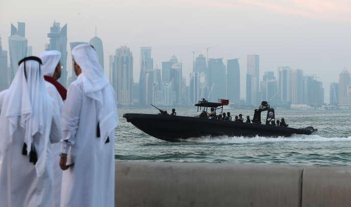 Vue sur la capitale du Qatar, Doha, en septembre 2017.