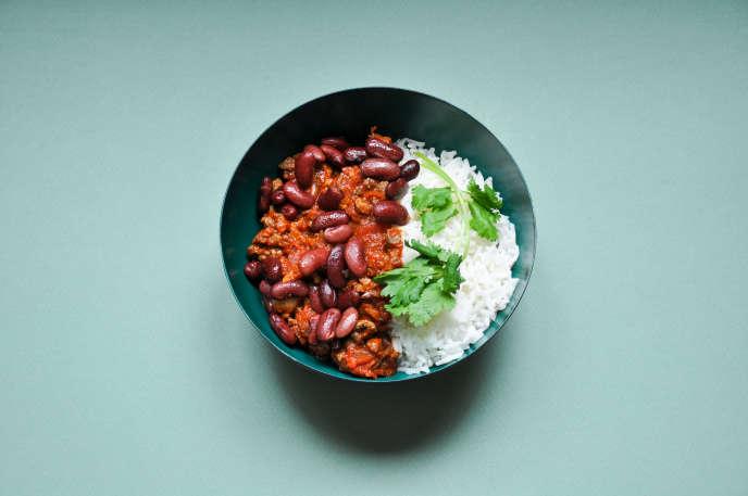 Le classique chili con carne, avec haricots rouges.