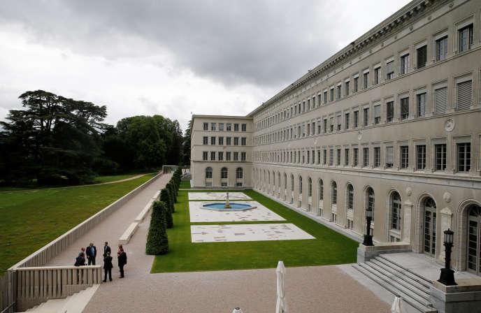 Au siège de l'Organisation mondiale du commerce (OMC), à Genève (Suisse), en juin 2016.