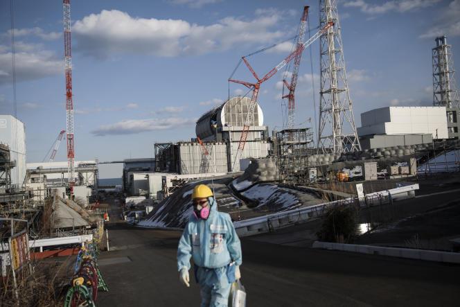 Sur le site d'une centrale nucléaire de la compagnie Tepco, à Okuma, dans la préfecture de Fukushima (Japon), le 31 janvier.