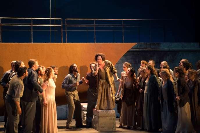 « Didon et Enée», de Purcell mis en scène parVincent Huguet au Festival d'art lyrique d'Aix-en-Provence, le 3 juillet 2018.
