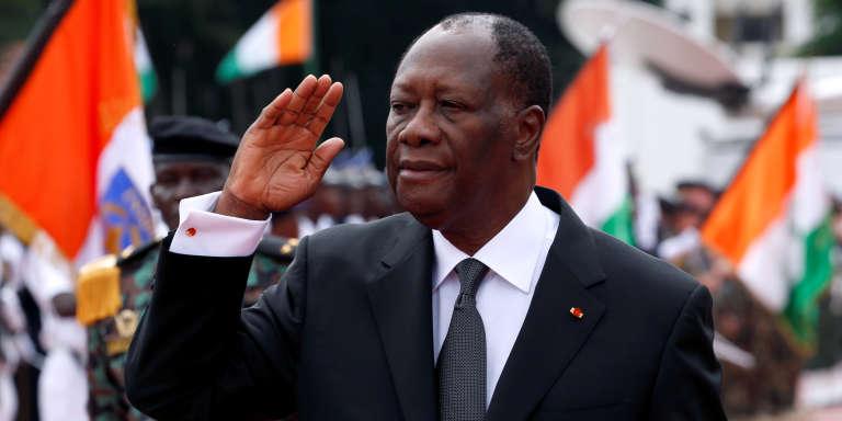 Le président ivoirien Alassane Ouattara, à Abidjan le 7 août 2017.