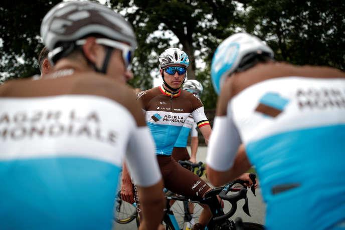 Oliver Naesen, lors d'un entraînement avant le Tour.